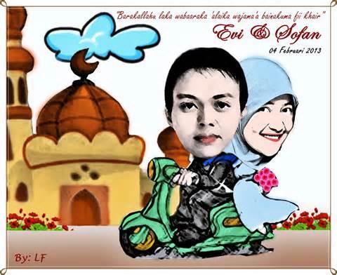 gambar pernikahan kartun